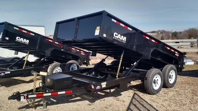 """NEW 2019 CAM """"Advantage"""" 6'8"""" x 12 Lo Pro Equipment Dump Trailer"""
