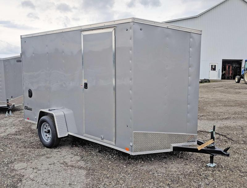NEW 2020 Cargo Express 6x12 EX DLX Sloped V-Nose Cargo Trailer w/ Ramp