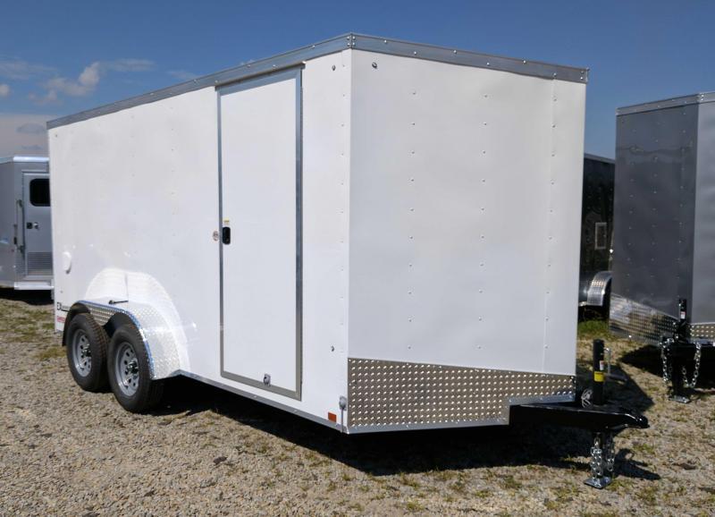 NEW 2020 Cargo Express 7x14 EX DLX Sloped V-Nose Cargo Trailer w/ Ramp Door