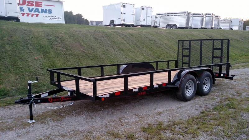 NEW 2018 Quality 7X16 HD PRO Utility Trailer w/ Spring Assist Gate  (8K)