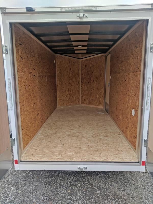 "NEW 2019 Cargo Express 6X12 HD EX DLX Sloped V-Nose w/ Barn Doors & 6"" Additional Height"