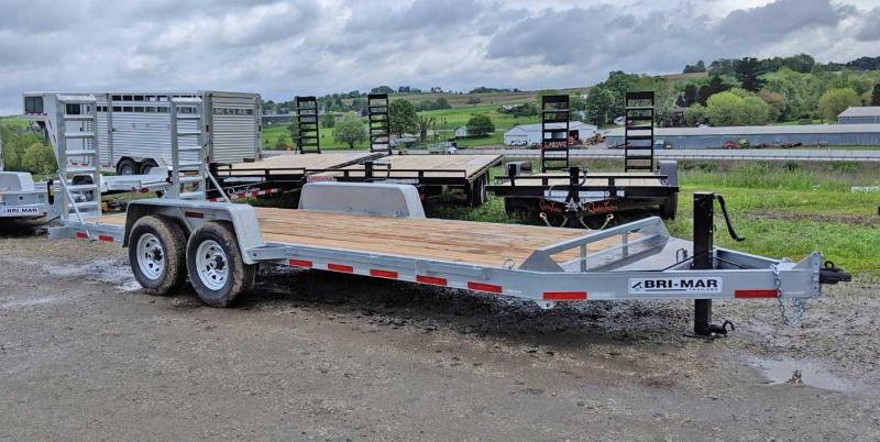 NEW 2019 Bri-Mar 20' Lo Pro Equipment Hauler (GALVANIZED)