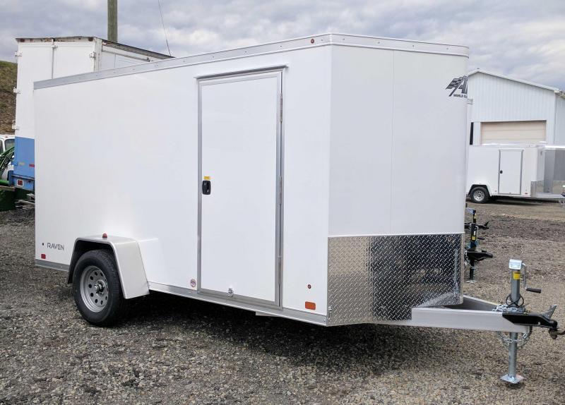 "NEW 2019 ATC 6X12 ""RAVEN"" V-Nose Aluminum Cargo Trailer w/ Ramp Door"