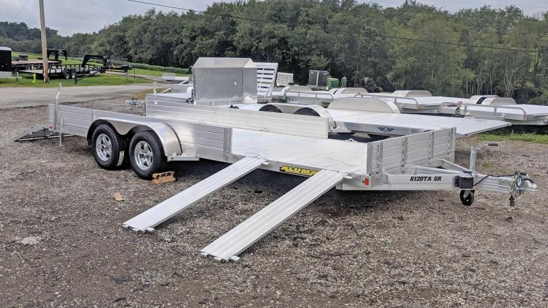 "NEW 2020 Aluma 6'9"" x 20 SR Utility Trailer w/ Side Ramps / Rear Bi-Fold Gate"
