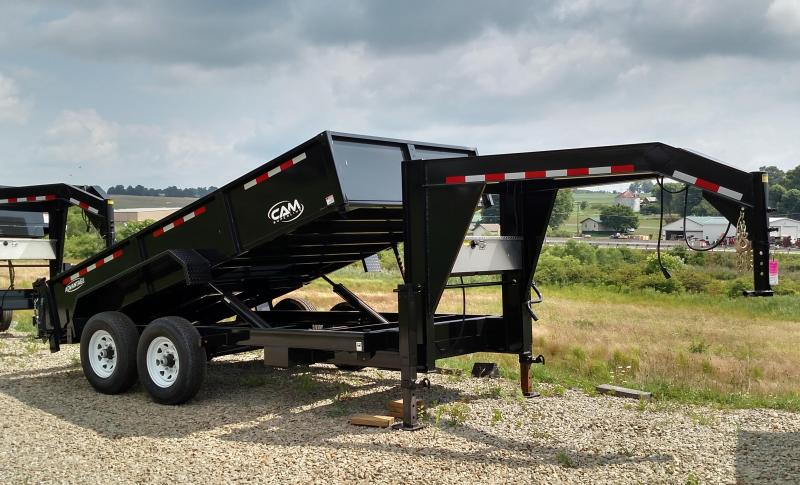 "NEW 2019 CAM ""Advantage"" 6'8""x14' GOOSENECK Lo Pro Equipment Dump"