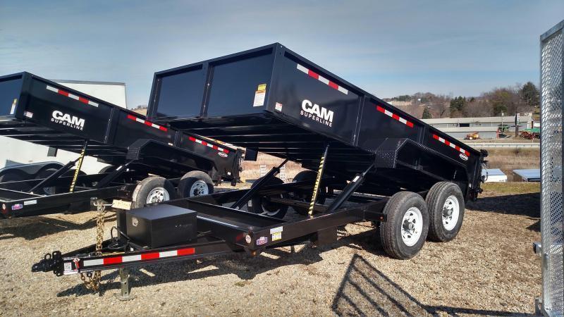"NEW 2019 CAM ""Advantage"" 6'8""x14' HD Lo Pro Equipment Dump  (OR GVW 9990#)"