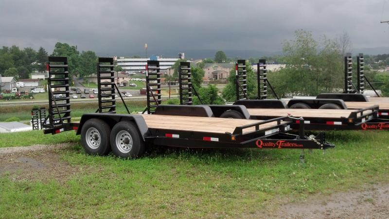 NEW 2019 Quality 16' General Duty Equipment Trailer w/ 2' Dove