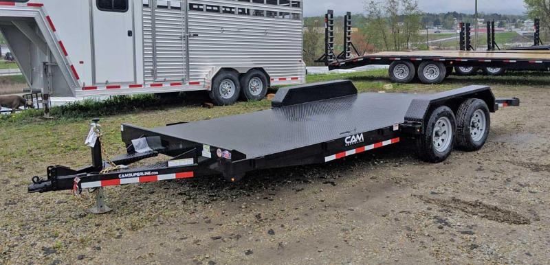 NEW 2019 CAM 18' HD Diamond Deck Car Hauler w/ Underbody Ramps