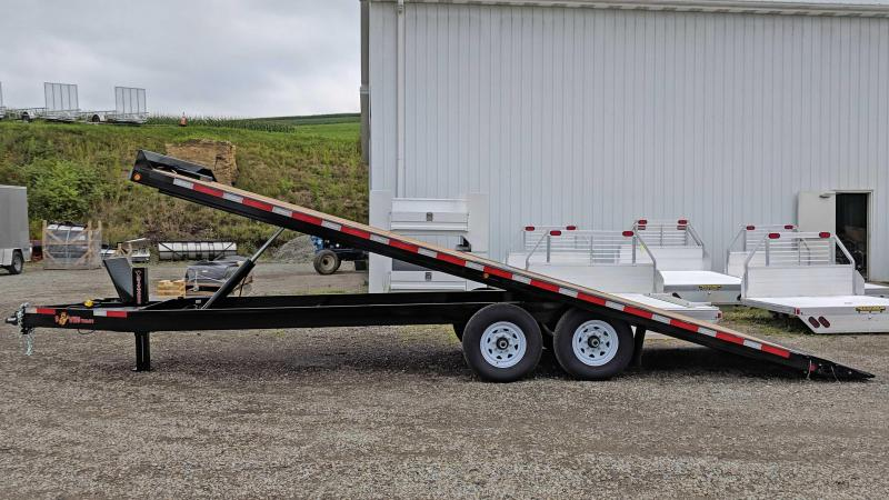 NEW 2019 B-Wise 22' HD Deckover Power Tilt Equipment Trailer