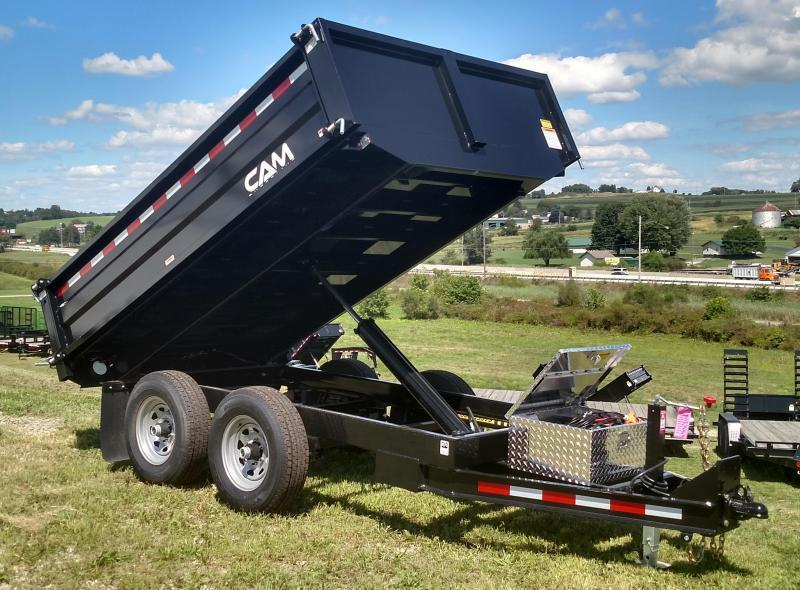 NEW 2019 Cam 6X10 Deckover Dump Trailer w/ Drop/Removable Sides