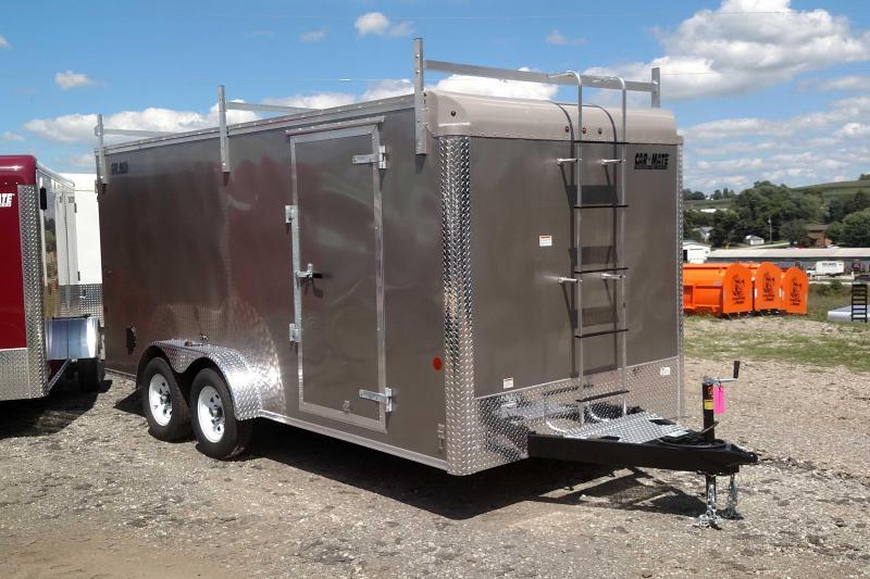 "NEW 2019 Car Mate 7x18 HD Custom Contractor Trailer w/ Rear Barn Doors (12"" Add'l Height)"