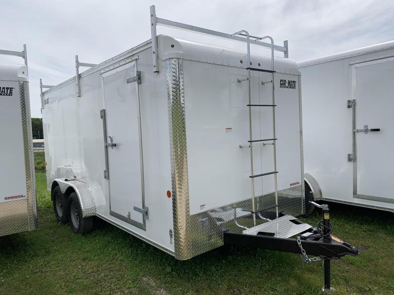 NEW 2019 Car Mate 7x16 HD Contractor #2 Trailer w/ Rear Barn Doors