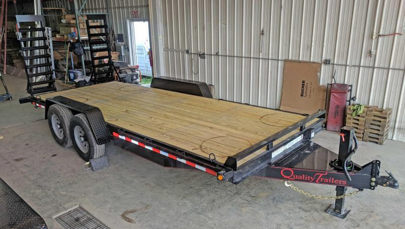 NEW 2019 Quality 18' PRO Equipment Hauler w/Stand Up Ramps