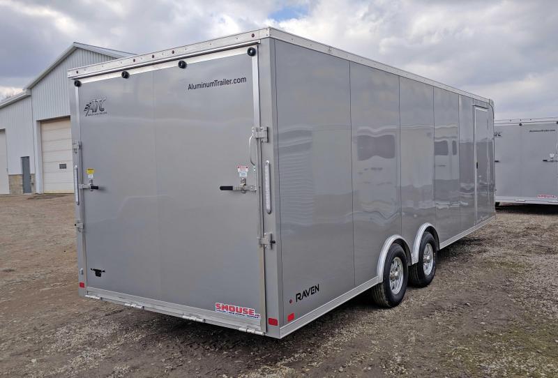 NEW 2018 ATC 8.5 x 24 RAVEN Enclosed ALUMINUM Car Hauler w/ Premium Escape Door