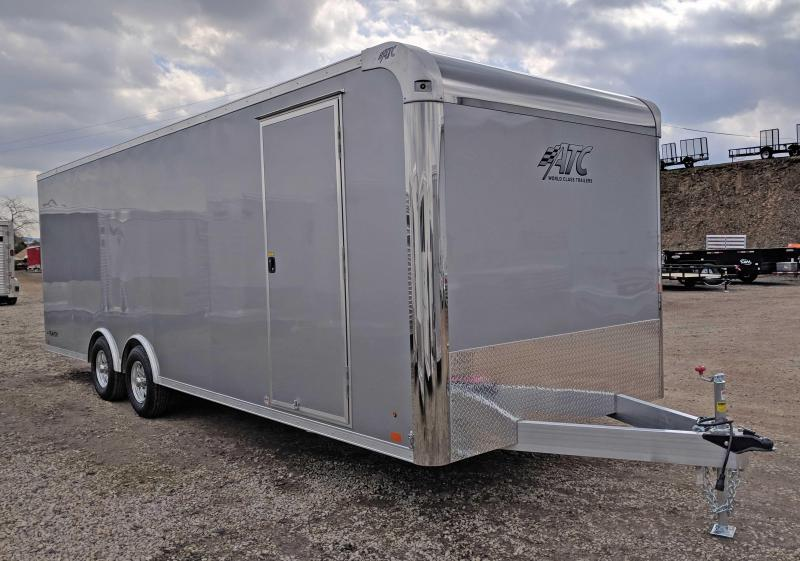 NEW 2018 ATC 8.5 x 24 RAVEN Enclosed ALUMINUM Car Hauler w/ Premium Escape Door