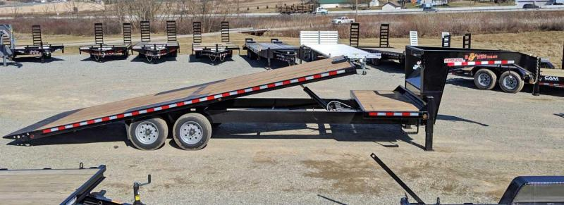 NEW 2019 B-Wise 26' (4+22) HD Deckover Gooseneck Power Tilt Trailer