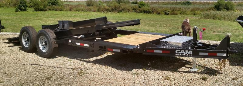 NEW 2019 Cam Superline 19' (4+15) Lo Pro X-Wide Split Tilt Trailer in Ashburn, VA