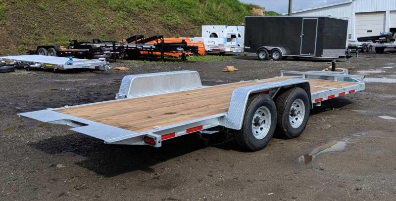NEW 2019 Bri-Mar 20' (4+16) Lo Pro Split Power Tilt Trailer (GALVANIZED)