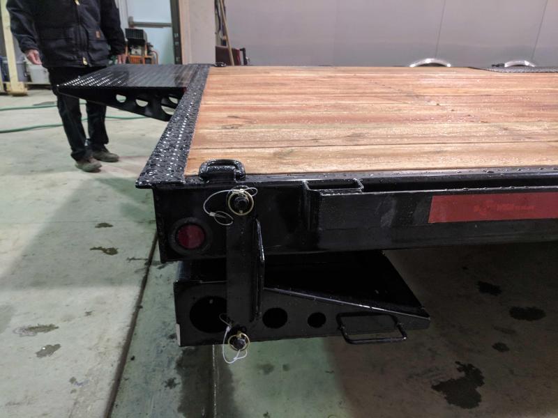 NEW 2018 B-Wise 26' (4+22) HD Deckover Split Deck Power Tilt Equipment Trailer