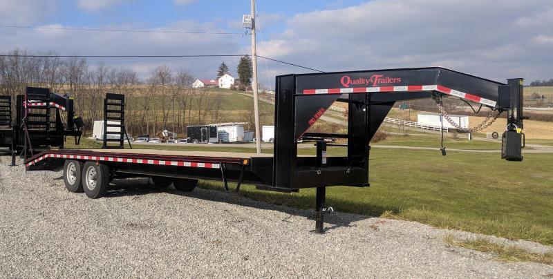 NEW 2020 Quality 24+4 HD PRO Deckover Gooseneck Trailer w/ Pop Up Dovetail in Ashburn, VA