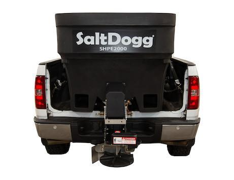 NEW Saltdogg 2.0 Cu Yd Poly Hopper Spreader w/ Extended Chute