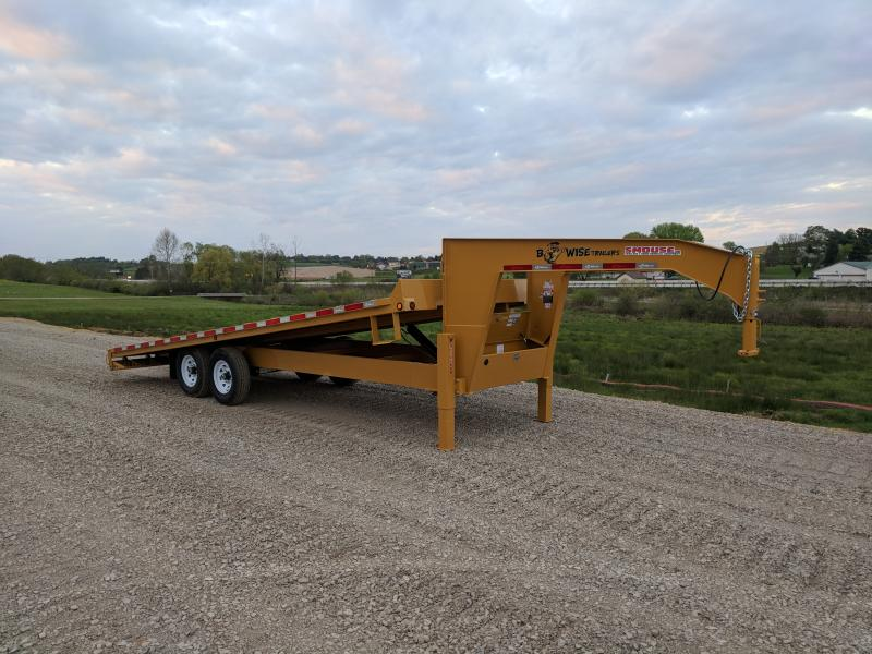 NEW 2018 B-Wise 22' Gooseneck Deckover Power Tilt Equipment Trailer