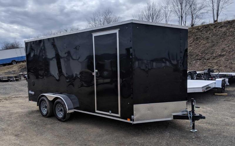 """NEW 2020 Cargo Express 7x16 EX DLX Sloped V-Nose Cargo Trailer w/ Ramp (84"""" Interior Height)"""