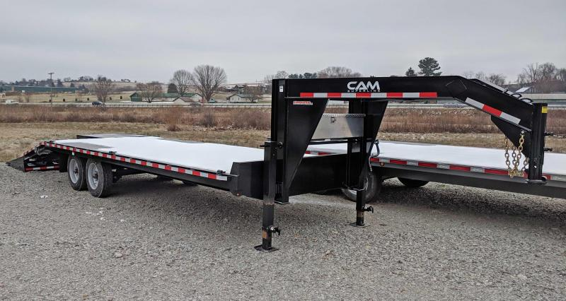 NEW 2019 Cam 20+5 HD Deckover Gooseneck w/ Lay Flat Super Ramps
