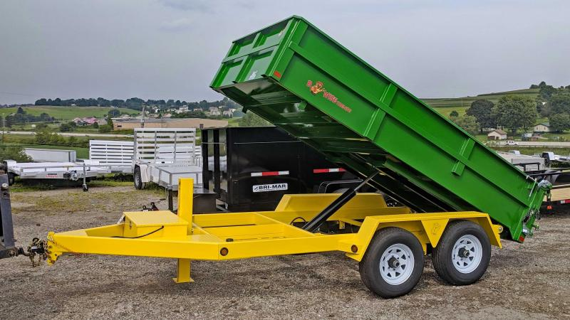 NEW 2019 B-Wise 6X12 Lo Pro Equipment Dump Trailer