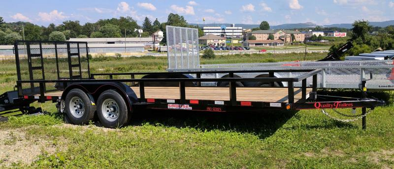 NEW 2019 Quality 7x20 HD PRO Utility Trailer w/ Spring Assist / Lay Flat Gate