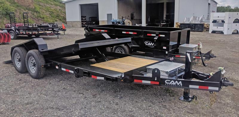 NEW 2019 Cam 19' (4+15) X-Wide Lo Pro Split Tilt Trailer