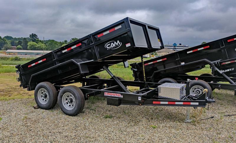 NEW 2019 CAM 6 x 12 Lo Pro Equipment Dump Trailer (10K)