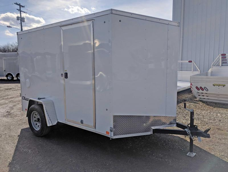 """NEW 2019 Cargo Express 6x10 EX DLX Sloped V-Nose w/ Ramp & 6"""" Additional Height"""
