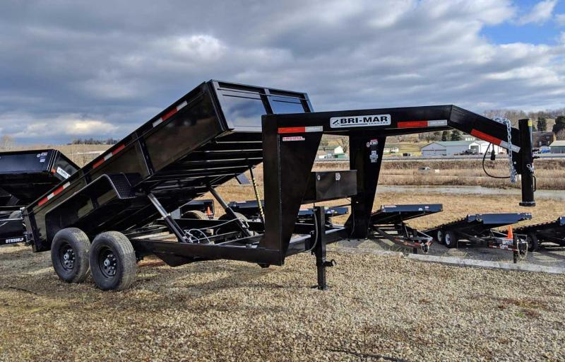 NEW 2020 Bri-Mar 6'9 x 14 HD Gooseneck Lo Pro Equipment Dump