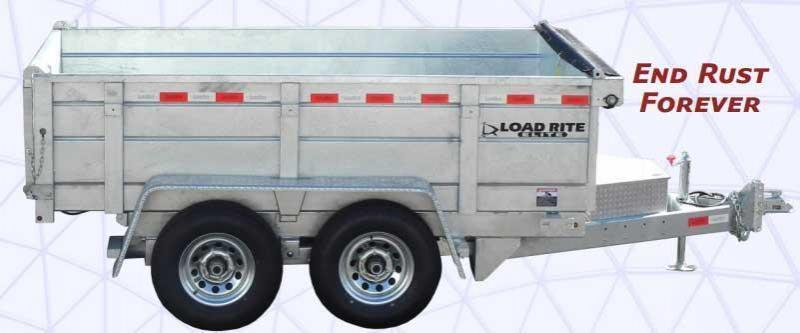NEW 2018 Load Rite 6x10 Lo Pro Dump Trailer - GALVANIZED