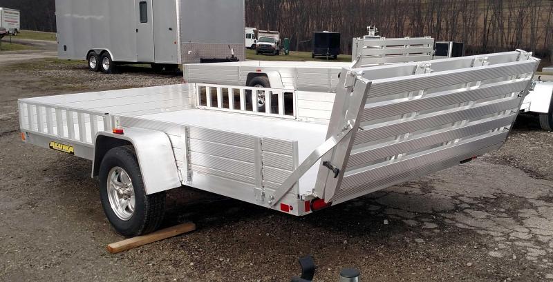 "NEW 2019 Aluma 6'9"" x 13' SR Utility Trailer w/ Side Ramps & Bi-Fold Gate"