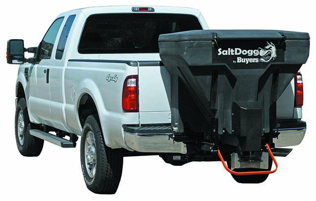 NEW Saltdogg 11 Cu Ft Tailgate Spreader w/ Auger & Vibrator - Hitch Mounted (Bulk Salt & Bag Salt)