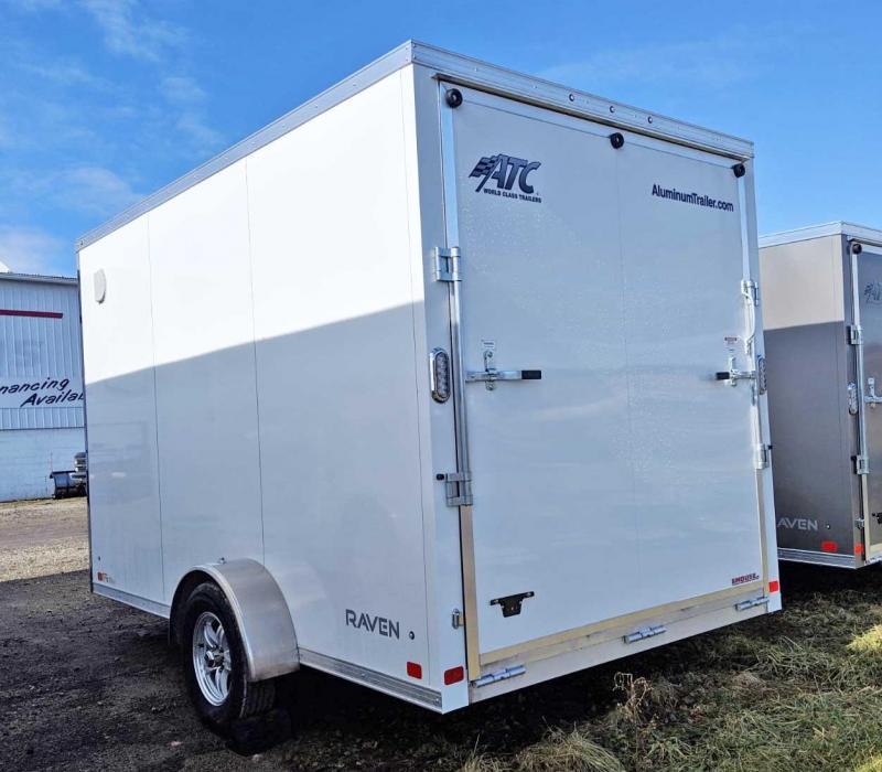 "NEW 2019 ATC 7X12 Raven Aluminum Cargo Trailer w/ Ramp Door & 12"" Additional Height"