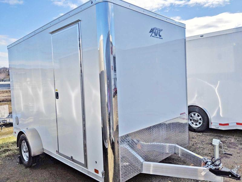 "NEW 2019 ATC 7X12 Raven Aluminum Cargo Trailer w/ Ramp Door & 12"" Additional Height"
