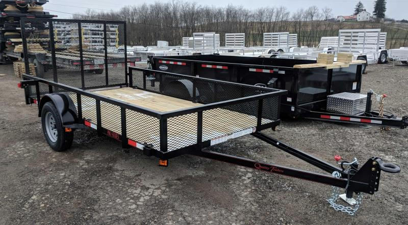 NEW 2018 Quality Trailers 6x12 Pro Utility Trailer w/ Mesh Sides & Spring Assist Gate/Lay Flat Gate