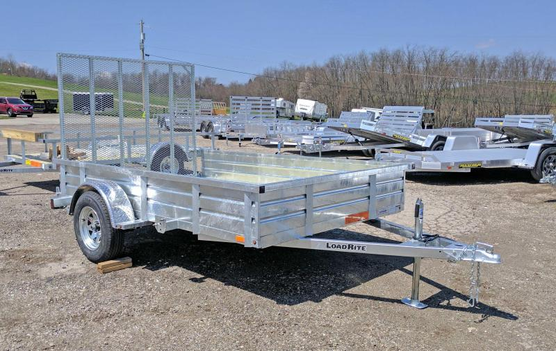 NEW 2018 Load Rite 6x10 Utility w/ Solid Sides - GALVANIZED