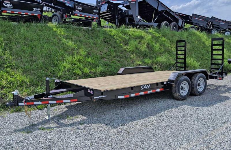 NEW 2019 CAM 18' Lo Pro Equipment Hauler w/ 2' Self Cleaning Beavertail
