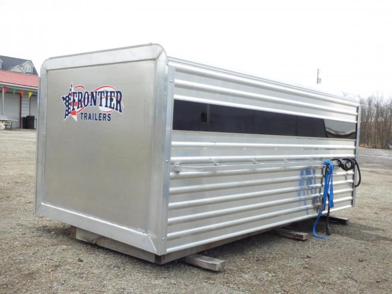 NEW 2019 Frontier 8' Aluminum Small Livestock Topper w/ Center Gate