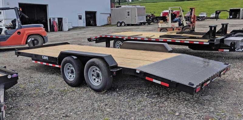 NEW 2019 CAM 20' HD Wood Deck Car Hauler