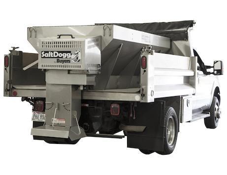 NEW SaltDogg 2.75 cu yd 9' Gas Stainless Steel Mid-Size Hopper Spreader w/ Standard Chute
