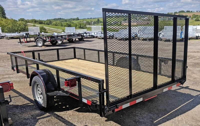 NEW 2019 Quality 6X14 PRO Utility Trailer w/ Mesh Sides & Spring Assist/Lay Flat Rear Gate