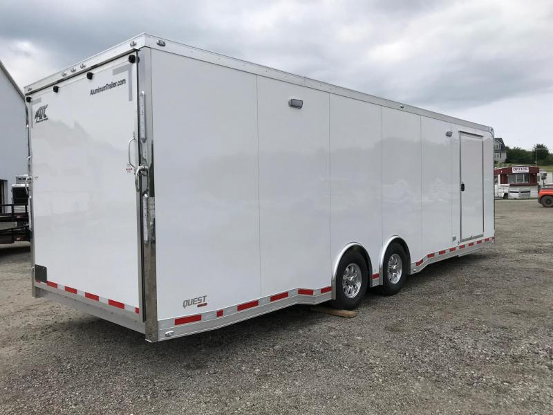 "NEW 2019 ATC 8.5' x 28' QUEST Aluminum Car Hauler ""CH305"" w/ Premium Escape Door"