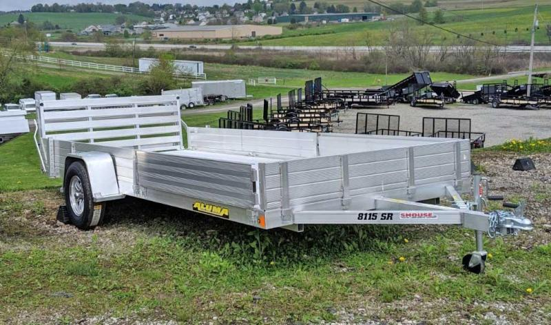 "NEW 2020 Aluma 6'9"" x 15 SR Utility w/ Side Ramps - Solid Rear & Bi-Fold Gate"