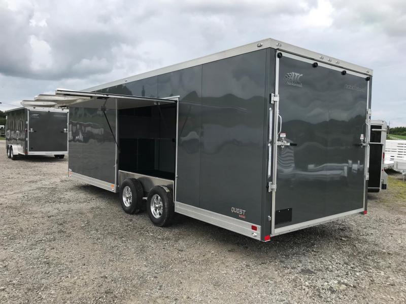 """NEW 2019 ATC 8.5 X 24 QUEST """" CH205"""" Car Trailer w/ Ramp Door & Premium Escape Door"""