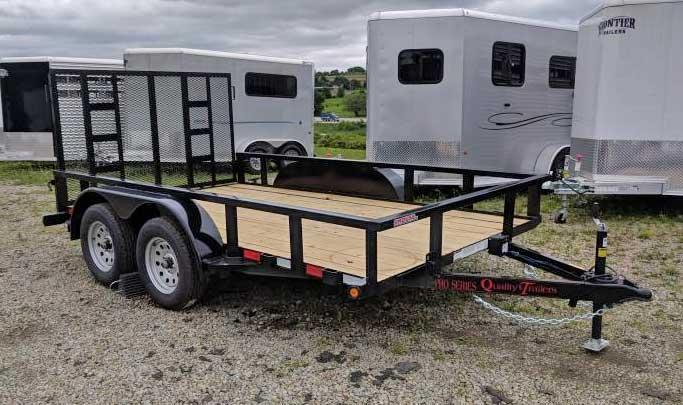NEW 2019 Quality 7x12 Tandem PRO Utility Trailer w/ Spring Assist Gate